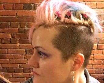 Rosebud Hair Pin Fantasy Accessory Costume Bobby Pins Bridal Party Wedding Flower Hair Accessories