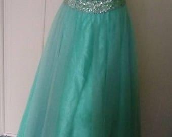 Alyce designs vintage beaded sequin gown