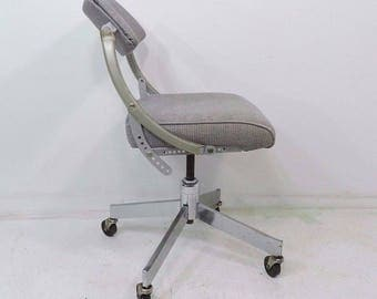 Vintage Domore Rolling Office Do More Mid Century Ergonomic Swivel Chair
