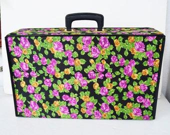Small folding flower suitcase vintage