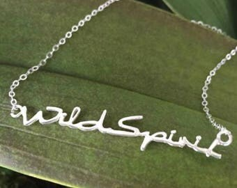 Wild Spirit Sterling Silver Necklace, Yoga Jewelry for Women, Gifts for Yogi, Yoga Necklaces, Holiday Gifts for Women