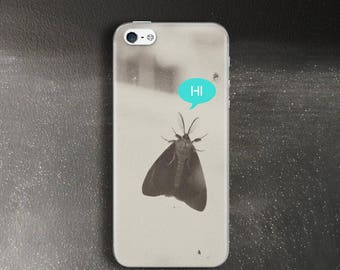 Moth phone case for iPhone SE Case rubber black and white photo for iPhone 5 Case Kawaii for iPhone 5s Case for iPhone 5c Case slim