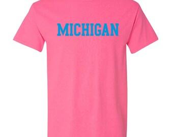 Michigan Wolverines Basic Block Neon T-Shirt