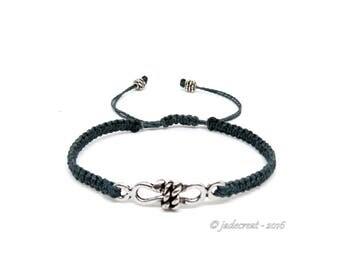 Mens bracelet - Ref 027 Br - grey blue.