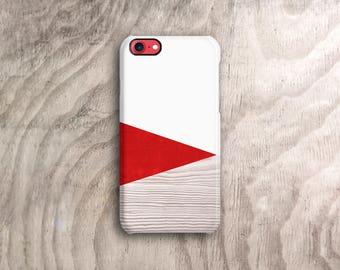 Red iPhone 7 Case Wood Print Geometric iPhone Case Pantone iphone 7 Case Red iPhone Case Red iPhone SE Case Red iPhone 7S Case Wood PRINT