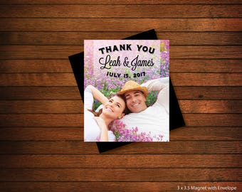 Thank You Photo Magnets | Personalized Photo Magnets | Wedding Favors | Birthday Favors | Party Favors > Envelopes Included > FREE SHIPPING