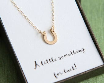 Graduation Necklace, Graduation gift for Her, Horseshoe Necklace, Tiny Horseshoe Necklace, Silver Gold Rose Gold Lucky Horseshoe Necklace