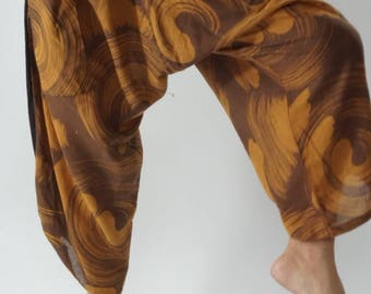 HC0364 Samurai Pants  - elastic waistband and cuffs - Fits all!  Unisex pants