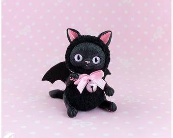 Fluffy bat kitten Toy