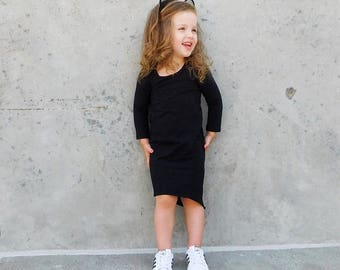 Baby girl clothes, baby girl, girls maxi dress, baby black dress, maxi dress, baby girl dress, girls black dress, baby, wholesale