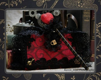 Alice In Wonderland Red Queen Inspired Journal/Diary/Travel Notebook