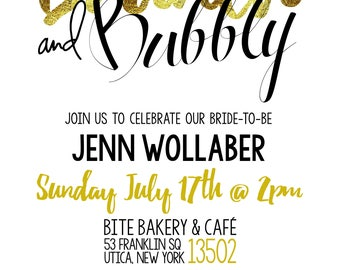 Brunch and Bubbly- Bridal Shower Invitation