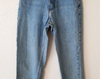 Guess Denim Jeans Ankle Zip Up Leg Georges Marciano Design American Made USA Size 28
