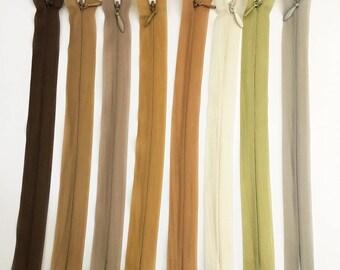 Set of 8 20 assorted colors - set of 8 cm invisible zipper closures