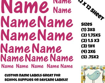 Full Sheet of Labels . Vinyl Sheet Labels . Back to School . Daycare Labels . School Supplies . Teachers . Supply Labels . Sheet  Labels