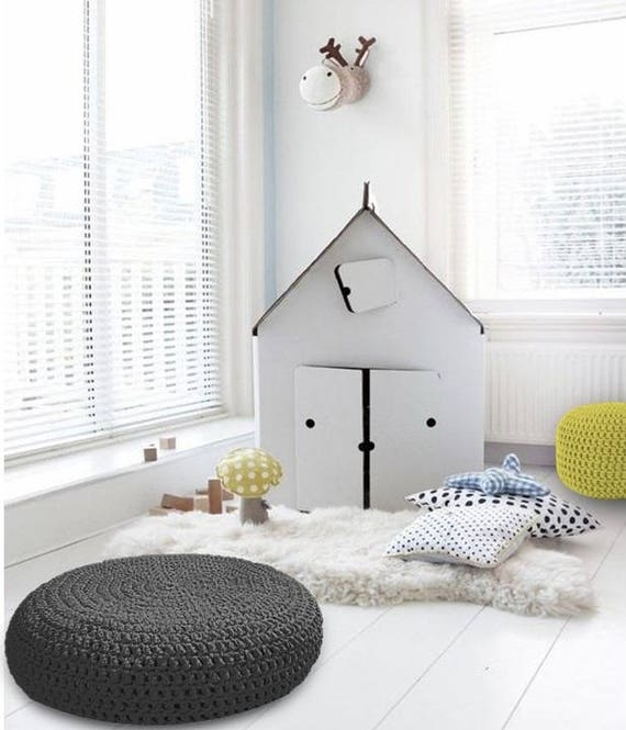 Large Round Floor Cushion-Giant Floor Pillow-Pouf