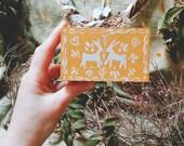 Boîte à bijoux & petits objets, en bois, thème Pâques /printemps, objet d'art peint à la main, décoration/ collection, folklore russe/ slave