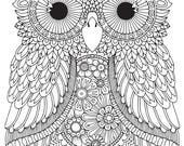 HELLO ANGEL - Karmin Owl Colouring Page