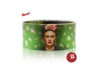 Frida Kahlo Canvas Bracelet Art Photography Womens Handmade Gift for Her