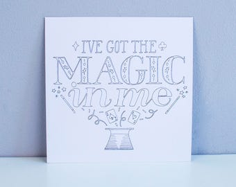 I've got the magic in me – Square A5 Illustrated art print – Pitch Perfect