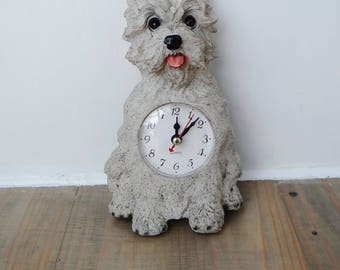 Vintage Scottie Dog Clock, Fully working, Hanging Wall Clock, Scottish Terrier