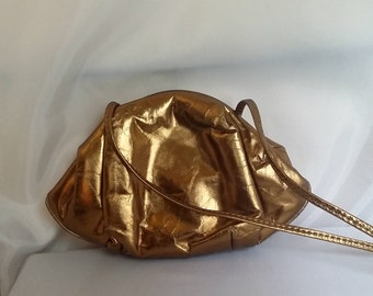 SHOP CLOSING 70% OFF Womens copper bag copper evening bag shoulder bag metallic bag womens handbags womens evening bags