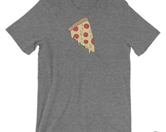 MELTY PIZZA, T shirt, Illustration, Pepperoni, Drawing, Pizza, Food Drawing, Casual Graphic T, Teeshirt