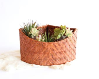 Vintage Planter Basket Corner Baskets Storage Home Organization Indoor Planter Boho Home Decor
