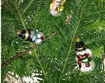 Set Vintage glass Christmas tree Hanger