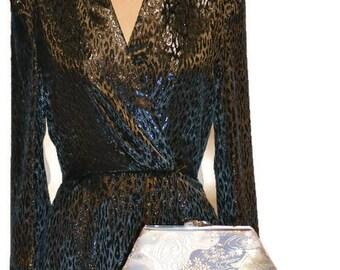 Japanese Obi Clutch Purse - Evening Clutch Bag - Handmade Handbag - Kimono Bag