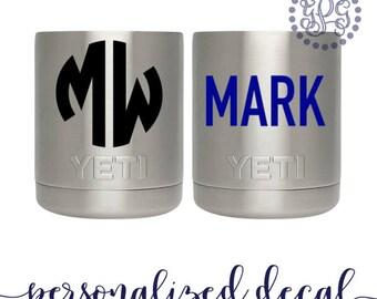 Yeti Lowball Decal, Yeti Decal for Men, Yeti Monogram, Monogram Decal for Yeti, Yeti Cup Decal, Yeti Stickers, Yeti Decal Name, Glitter
