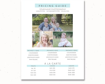 Photography Price List Template, Pricing Template, Pricing List for Photographers, Photography Templates, Photography Pricing Sheet, pg005