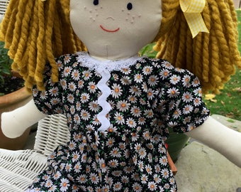 Rag Doll, Hand Made Cloth Doll, Dressed Doll