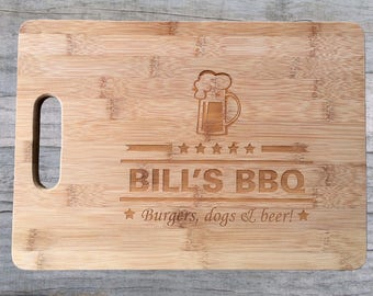 Fathers Day Gift, Gift for Dad, Personalized Cutting Board, BBQ Cutting Board, Grill Master, Dad Gifts, Gift for him, engraved cutting board