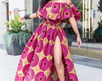 Nora Ruffle Maxi Dress