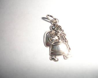 SALE *** Silver santa Charm for bracelet Christmas santa charm cellphone charm Silver santa charm gift for holiday winter Christmas
