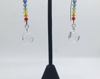 Genuine Swarovski crystal LGBT gay pride earrings