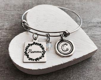 Mamma, Mamma Jewelry, Mamma Bracelet, New Mamma, First time Mamma, Mamma Gifts, Silver Bracelet, Charm bracelet, Silver Jewelry, Gifts for