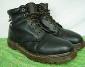 Doc Marten Six-Hole Brown Boots - Dr. Marten Combat Boots - VERY Dark Brown Combat Boots - Size 9 UK, 10 Mens US, 11 Womens - D324