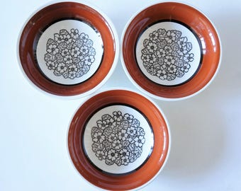 Vintage Swedish Gefle Agneta deep dishes - set of 3