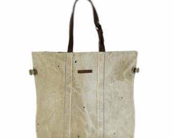 Tote bag, recycled bag, canvas bag, shopping bag, tote bag canvas, upcycled, vintage bag