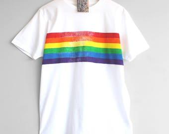 rainbow t shirt etsy