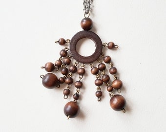 Ibero, Brown Bead Necklace, Finland, 1970s (F1179)