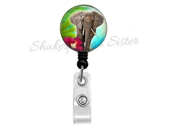 Elephant Badge Reel - Badge Reel - Retractable Badge - ID Holder - Nurse Badge Reel - Elephant ID Holder - Key Card Holder