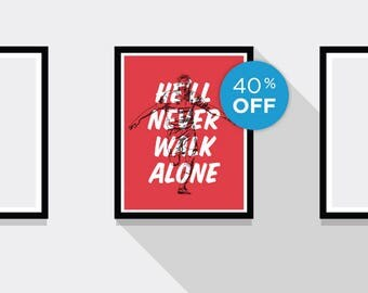 ON SALE!!! Steven Gerrard Liverpool FC Motto Football Print