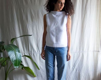 White Lily Cable Knit Top