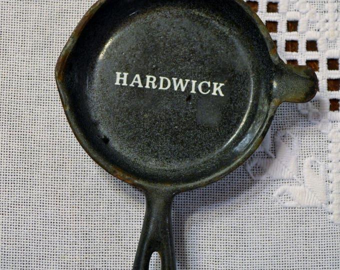 Vintage Hardwick Cast Iron Ashtray Miniature Frying Pan Factory Sample PanchosPorch