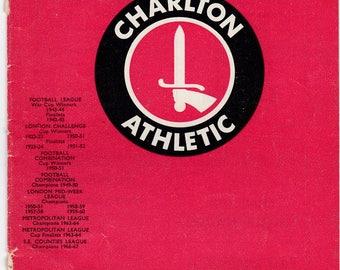 Vintage Football (soccer) Programme - Charlton Athletic v Millwall, 1968/69 season