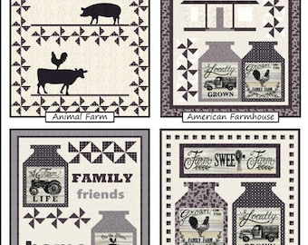 Homegrown Banners, Homegrown Fabric, Coach House Designs - DIY Wall Hanging Pattern in Four Sizes - CHD-1711
