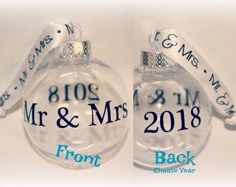 Mr Mrs Ornament Gift, Mr Mrs Gift, Mr Mrs, Wedding ornament, Bridal Shower Gift, Reception, Wedding Gift, Christmas Ornament, Bride Groom